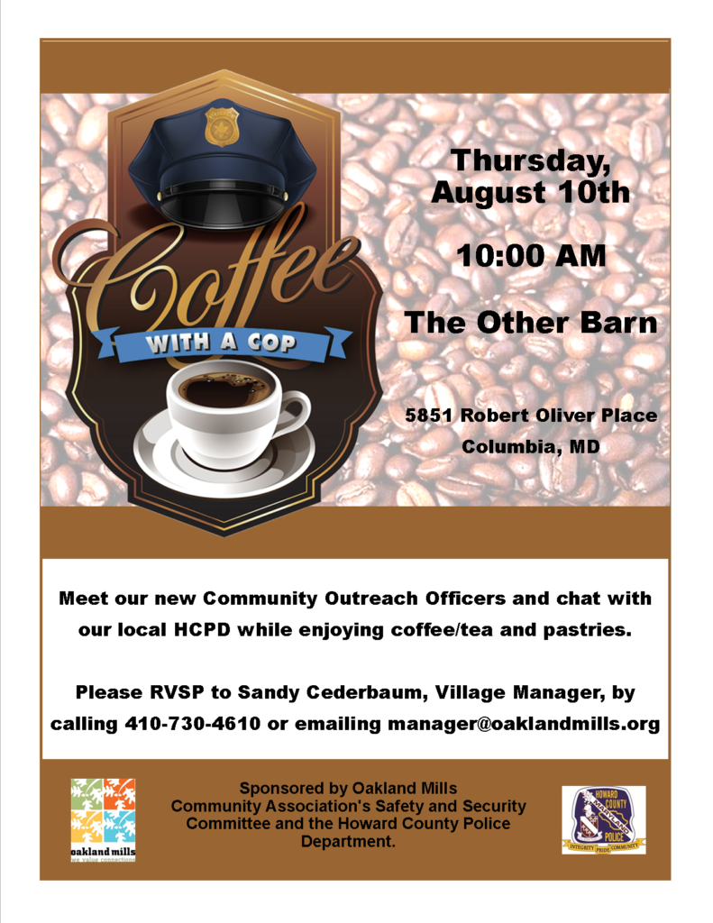 Coffee with a Cop @ The Other Barn   Columbia   Maryland   United States