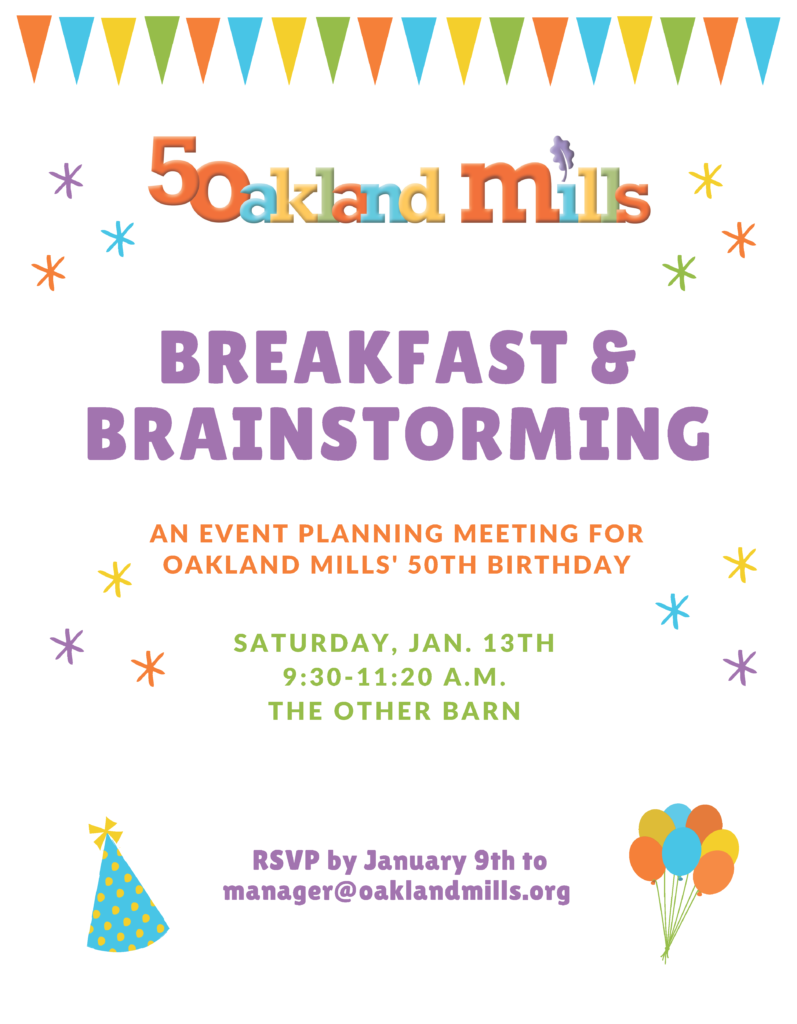 Breakfast & Brainstorming for OM's 50th Birthday @ The Other Barn | Columbia | Maryland | United States